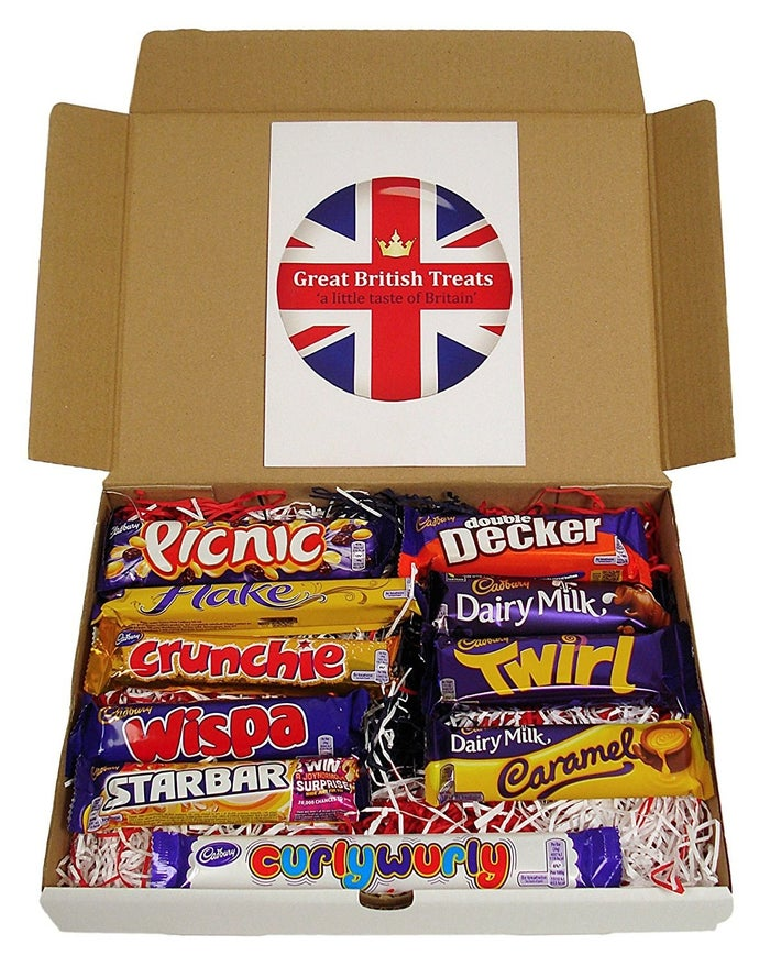 """Promising review: """"Delicious fresh candy from England! Such a great variety and value! Each candy bar was better than the next! The box it comes in is so cute, and there is even tissue paper to make it extra fancy! I'm going to order more around the holidays and give them as gifts!"""" —SalamanosGet a box of 10 chocolate bars from Amazon for $16.25."""