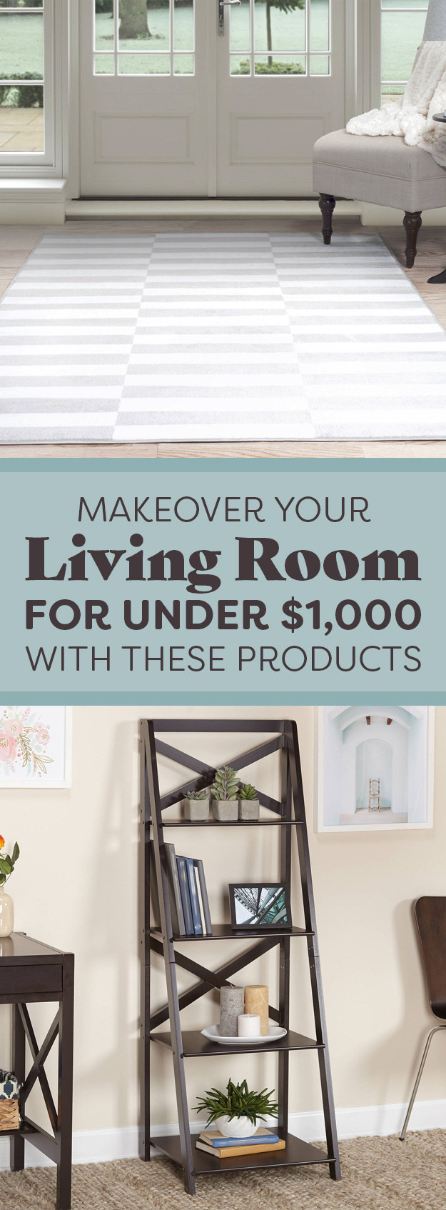 Everything you need to make over your living room for for Living room under 1000