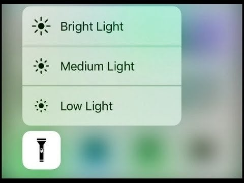Your phone's flashlight is insanely bright by default, but if you 3D-touch the icon, you can choose lower brightness levels. It's especially helpful if you need to get up during the night and don't want to wake yourself up with a too-bright light.