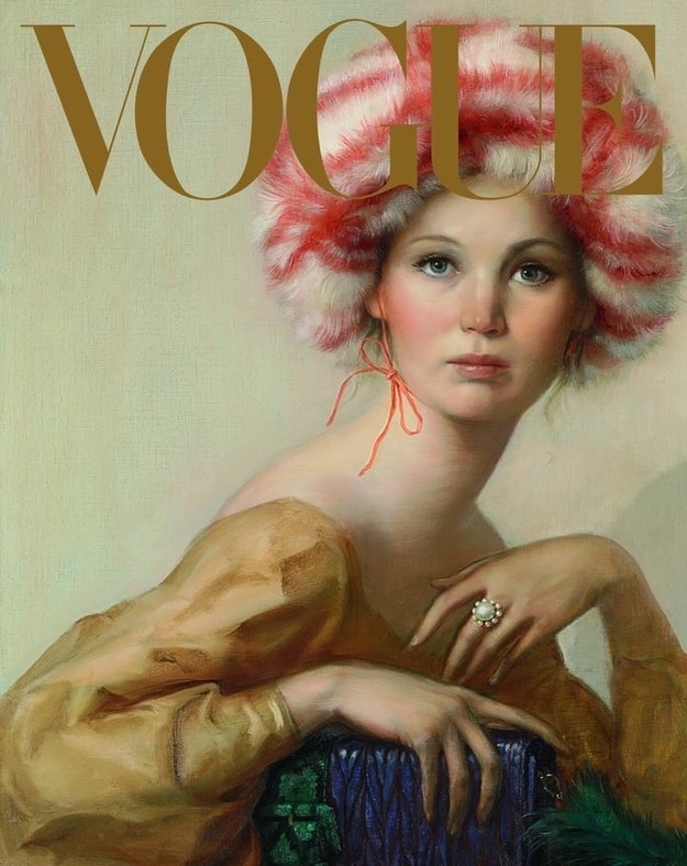 There's this painting by John Currin, the first painted September cover in Vogue history: