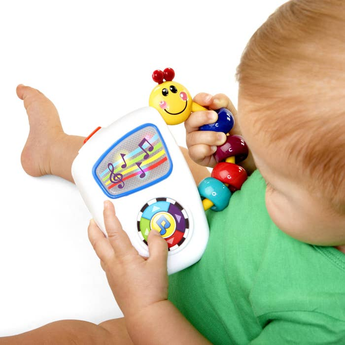 """Age range: 0–12 monthsPromising review: """"My son loves this! Great variety of classical music that doesn't get too repetitive like some toys do. Perfect for taking on trips while also helping with his teething!"""" —adianne325Get it at Walmart for $7.74."""