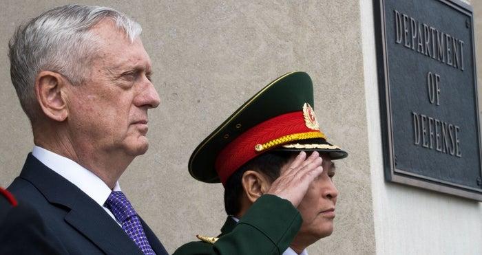 Mattis in Vietnam on Wednesday.