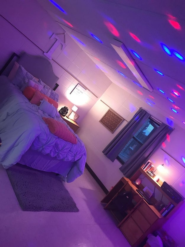Since she is an RA, she gets her own room. So, Tamia decided to do it big, and she DELIVERED.