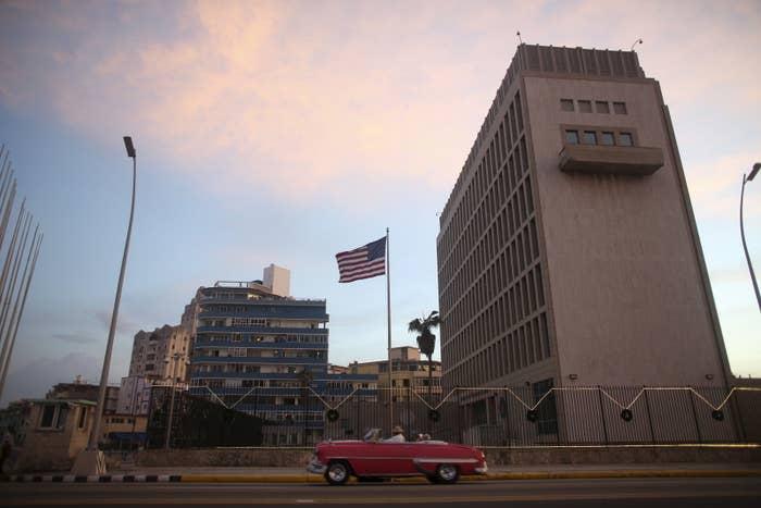 The US embassy in Havana.