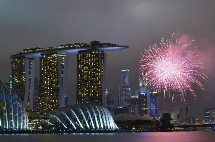 bay garden east gardens by the bay this view of the fireworks doesnt get better with singapores most iconic buildings in