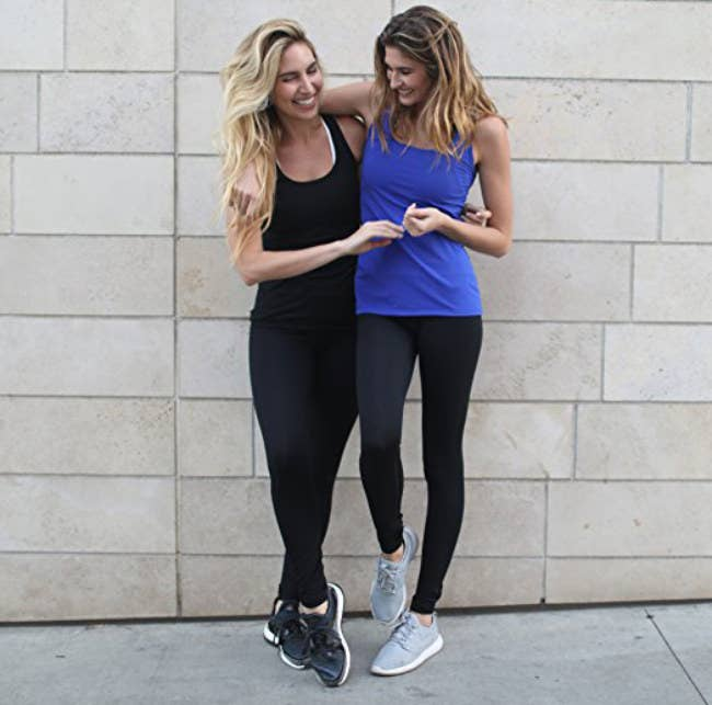 """Promising Review: """"These are great quality, have durable stitching, and fit me perfectly. I am very muscular, with a tiny waistline, but large quadriceps and bum. Finding workout gear to fit me in the legs means going two sizes up, making the waistband super loose. But I had none of those issues with these bad boys."""" —JadePrice: $9.99+ Rating:4.5 out of 5 Sizes: XS-XL Colors: 33"""