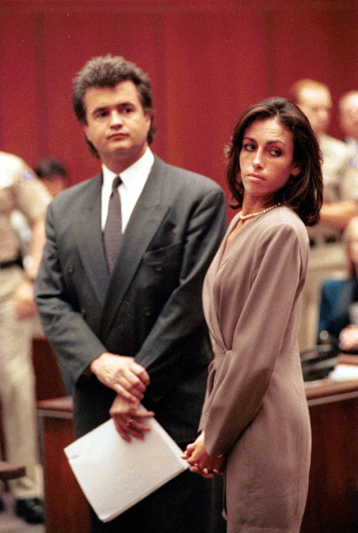 Heidi Fleiss stands in court August 11, 1993 in Los Angeles, CA.