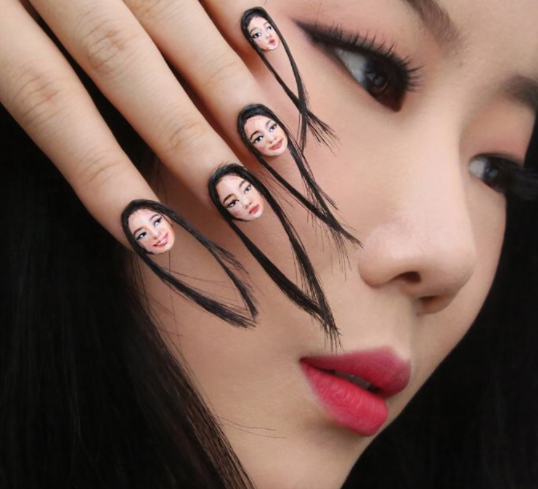 She's causing a big stir on the internet for potentially introducing a new trend — hair nails.