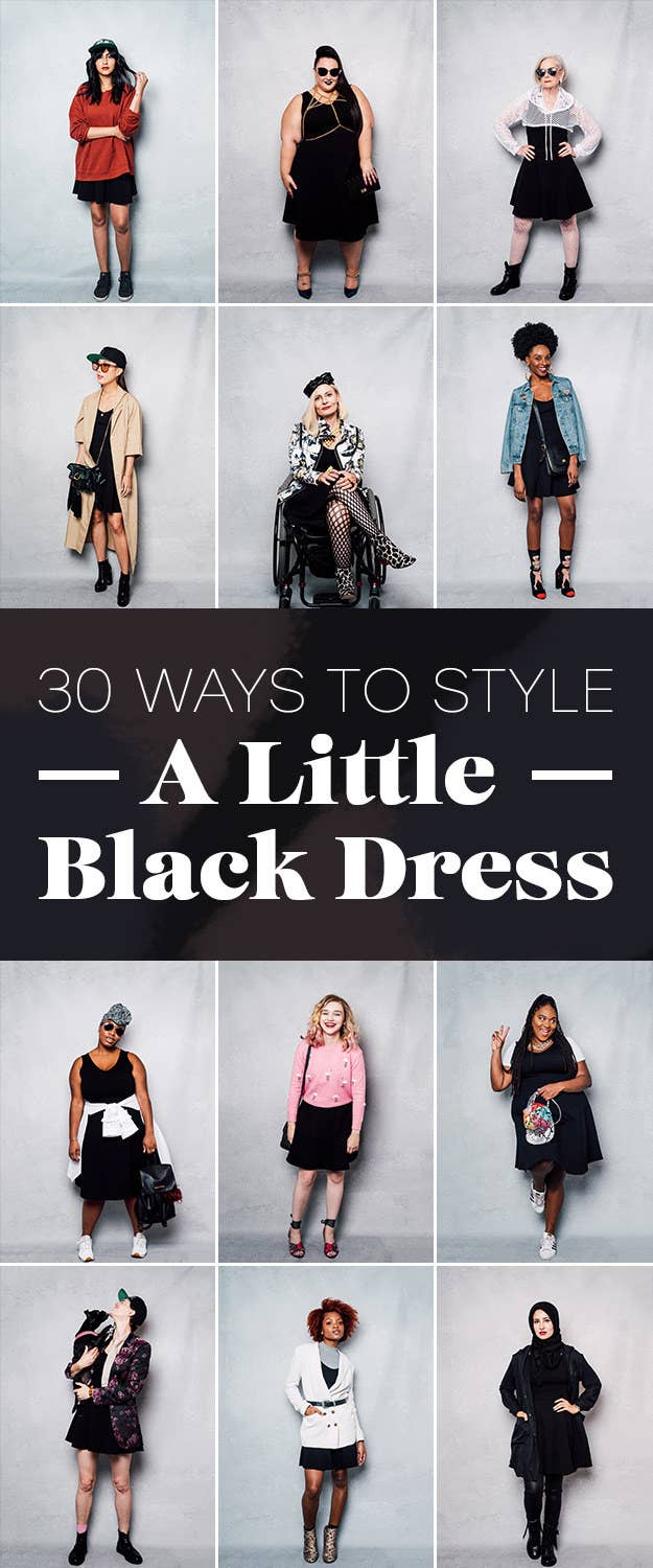 f437ddc31f7 We Asked 17 Women To Style The Same Black Dress And They Slayed