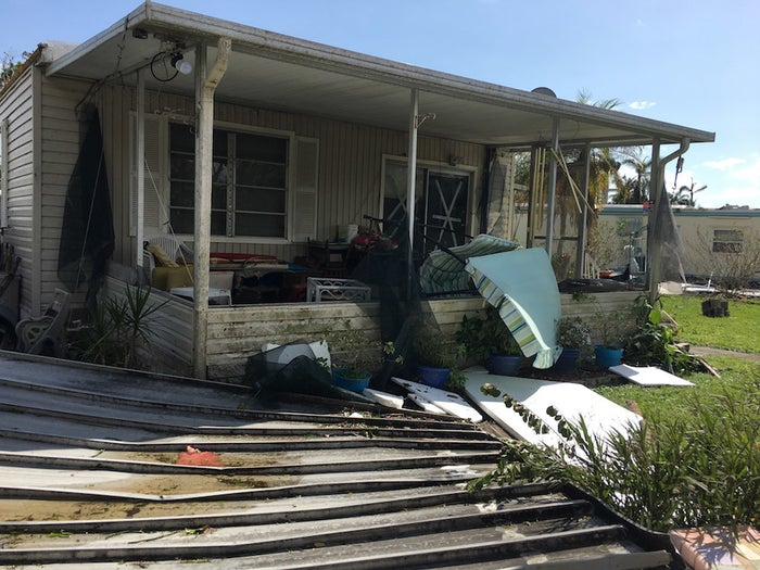 The Addison family house, one day after Hurricane Irma tore through Naples.