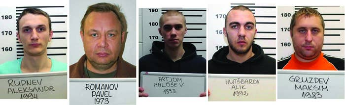 The men convicted of spying on Estonia for Russia.