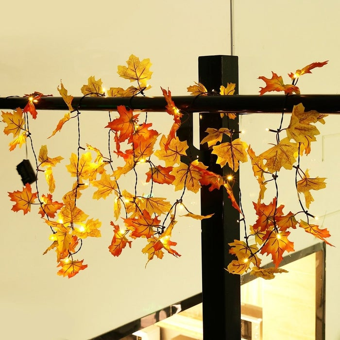 """Promising review: """"Is it too early to put up fall decorations? I think not! I put these up in the foyer of my house and they look fabulous. They're so welcoming and look lovely when lit. I absolutely love these!"""" —Annette Get them from Amazon for $12.99."""