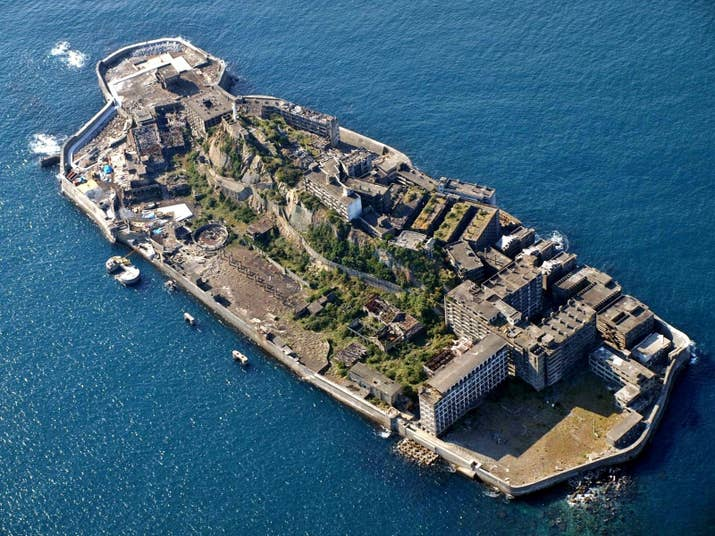 Hashima Island was populated from 1887 to 1974, and operated as a coal mining facility. But the island was also infamous for its forced labor camps throughout World War II. Conscripted Korean civilians and Chinese POWs died on the island as a result of harsh labor conditions, malnutrition, and exhaustion.