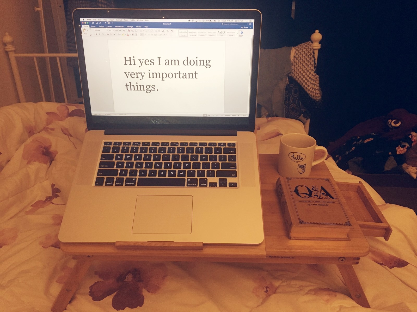 If You Hate Leaving Your Bed You 100 Need This Laptop Desk