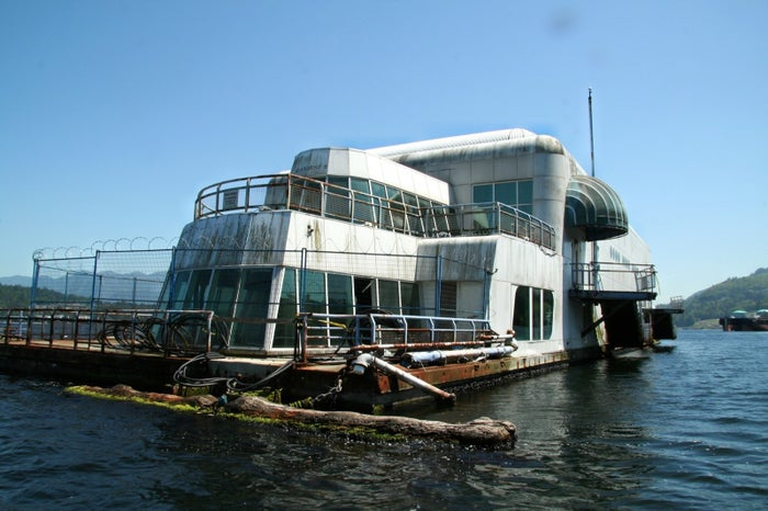 The McBarge was intended for Expo '86 as part of a tribute to the future of technology and architecture.