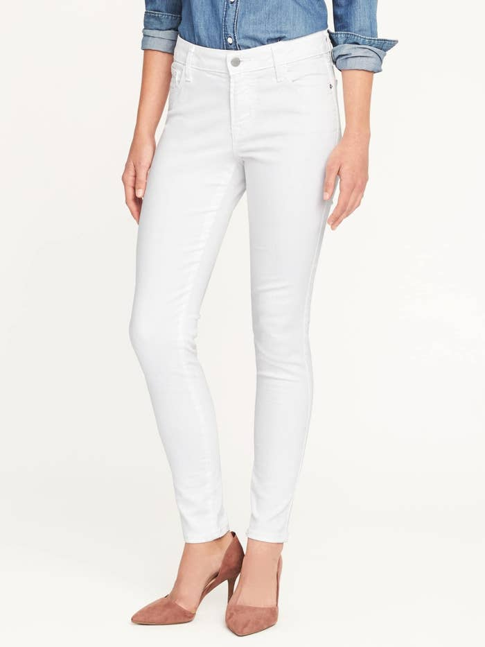 0218aff6 A pair of stay-white jeans equipped with a special denim technology that  literally repels stains and spills — just in case you wanna defy fashion  rules and ...