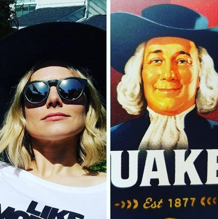 The Quaker Oats man doesn't even wear sunglasses.