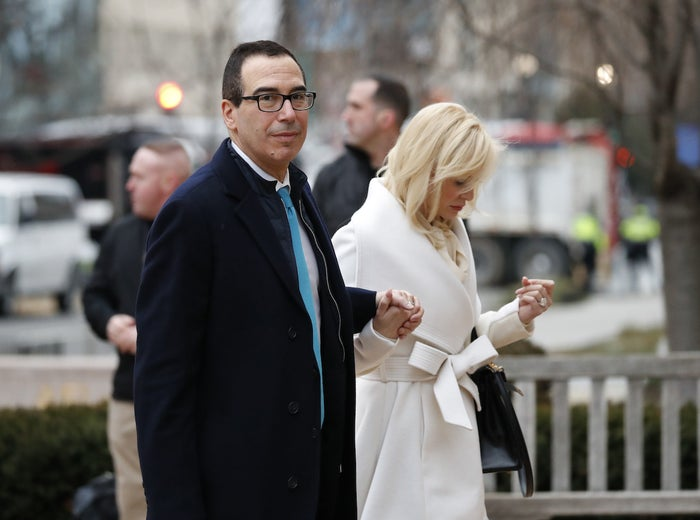 Treasury Secretary Steve Mnuchin and his wife Louise Linton.