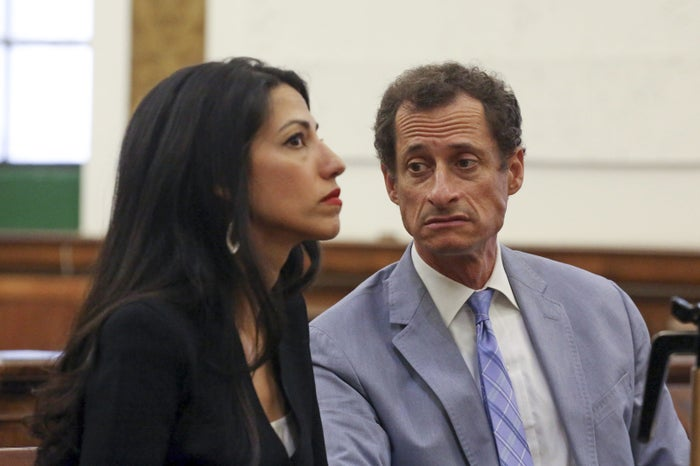 Weiner and Abedin in court for divorce proceedings on Wednesday.