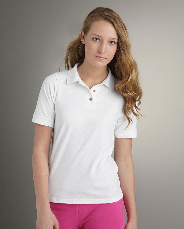 Skinni fit ladieswomens long sleeve stretch polo shirt
