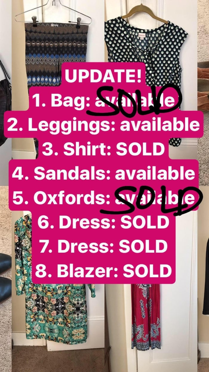 As stuff sold, I updated my Instagram story.
