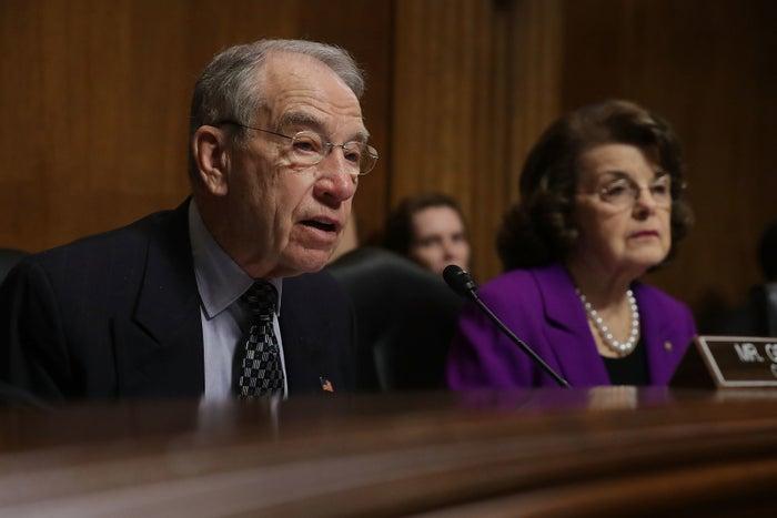 Senate Judiciary Committee Chairman Chuck Grassley and California Sen. Dianne Feinstein, the committee's ranking Democrat.