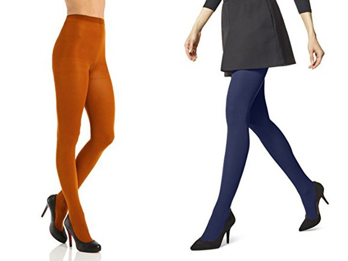 "Promising review: ""Being 5'4"" and about 220 lbs., I ordered a size 4, hopeful after reading the reviews that they'd fit just right. And they do! They remain opaque throughout, only showing any trouble around the knees and thighs, which is to be expected. Loving the control top so far."" —Ashley Z.Price: $10+ Rating: 4.2/5 Sizes: 1–5 Colors: eight"