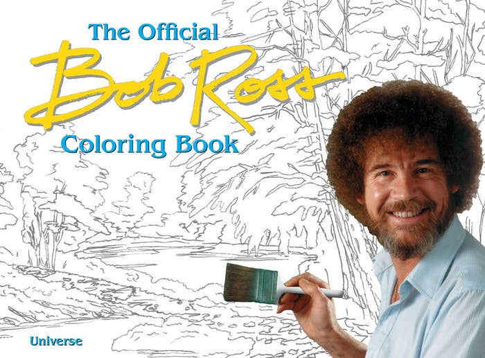 """Promising review: """"Great coloring book. It has easier pages for younger people that might be introduced to our Lord and Savior, better known as Bob Ross, but it also has many pages that require finer details. I look forward to spending countless hours on this."""" —Robbie MillerGet it from Amazon for $13.56.Might I also suggest a Bob Ross bobblehead and quotes book?"""