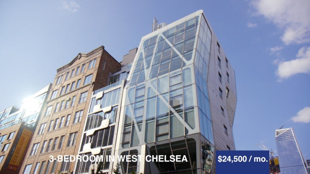 The second apt was a 3 bedroom in West Chelsea at $24,500 a month. There were three bedrooms, three bathrooms, and an amazing view of Manhattan!