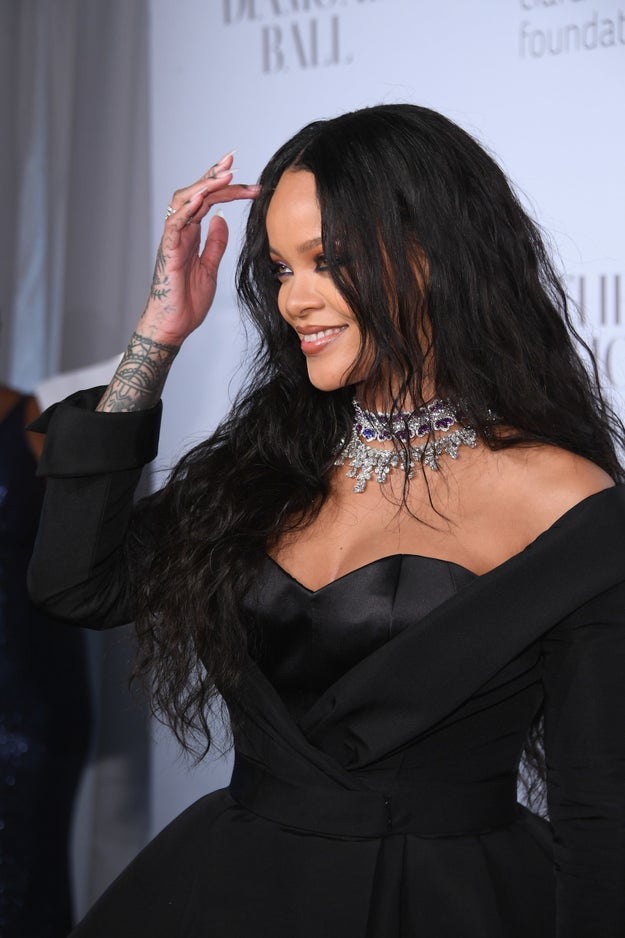 Rihanna wore this lil' one-of-a-kind number designed by Ralph & Russo to her own Diamond Ball charity event on Sept. 14, 2017 and proceeded to slay everyone in attendance.