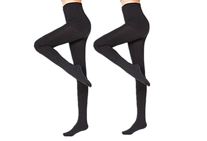 "Promising review: ""These are wonderful stockings. They are very warm and soft. Can be worn under pants or with a dress or skirt."" —TGPrice: $19.99 for a two-pack Rating: 4.3/5 Size: one size"