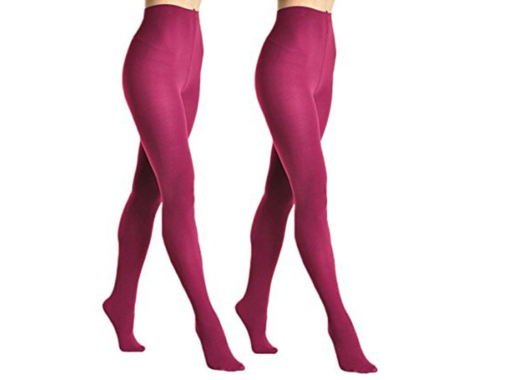 "Promising review: ""I bought several pairs of these for a recent trip abroad to wear with skirts and under pants in cold weather. These are great tights! Very durable, even though they've been through dozens of washes in the machine (I don't hand wash or use the gentle cycle). I'd buy these again."" —Elsie85Price: $7.50+ each or $14.99 for a two-pack Rating: 4.2/5 Size: one size Colors: eight"