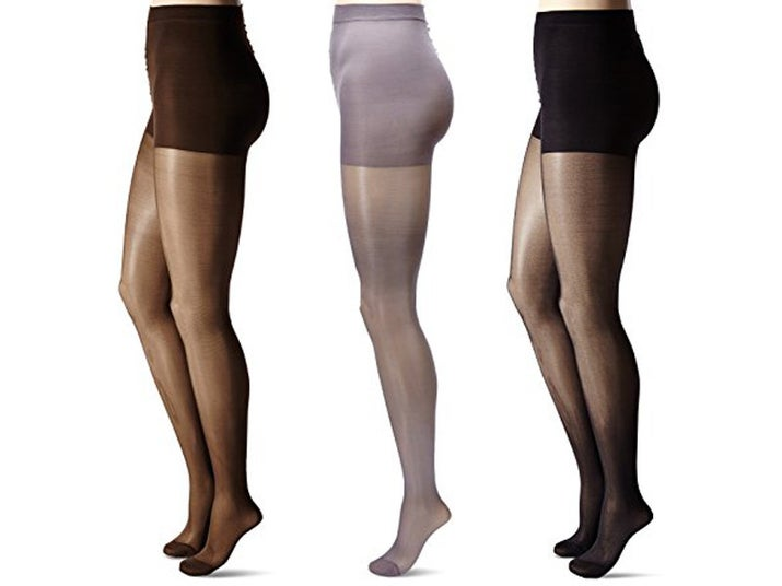 "Promising review: ""I didn't think it was going to work. In fact, I was convinced these would be joining a drawer for of unworn, unloved hosiery. However, I really needed them to work with the outfit I'd planned and because I'm stubborn, I tried and tried and tried some more to pry these things up and over my 6' of curves. My work paid off! These hose that started by looking way too small finally gave in and stretched out to fit me (and hold me snugly!) once that work was done. These felt great on. No slipping, no sagging, no weirdness. I'm VERY pleased!"" —PugMamaPDXPrice: $3.99+ Rating: 4/5 Sizes: medium, tall, petite, 1X/2X–5X/6X Colors: eight"