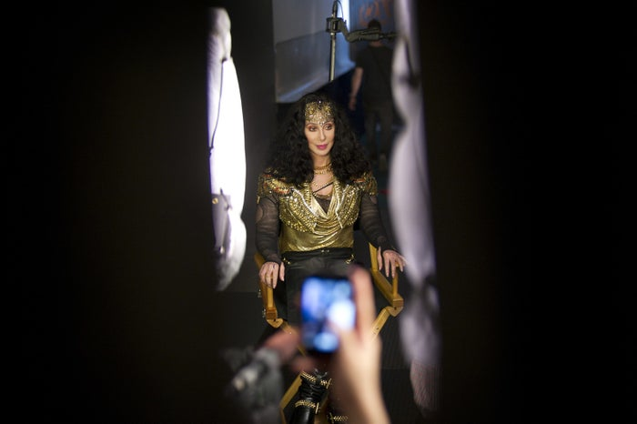 Cher during an interview backstage at the Marquee club in New York, June 28, 2013.