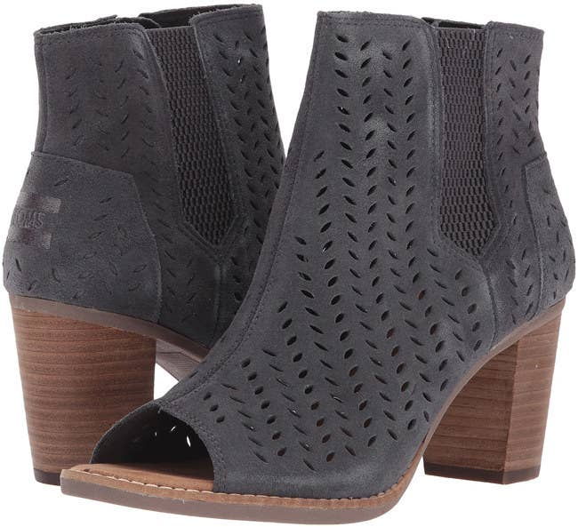 Peep-toe Toms booties you can rock with tights or thick socks if you are  willing to take some fashion risks e53820b08