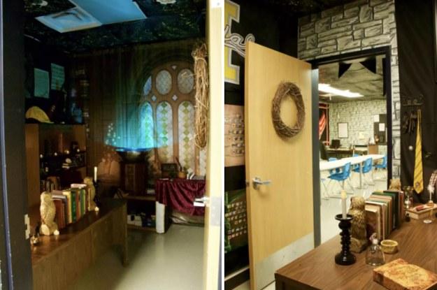 Esta a sala de aula de harry potter mais detalhada que for Sala pranzo harry potter