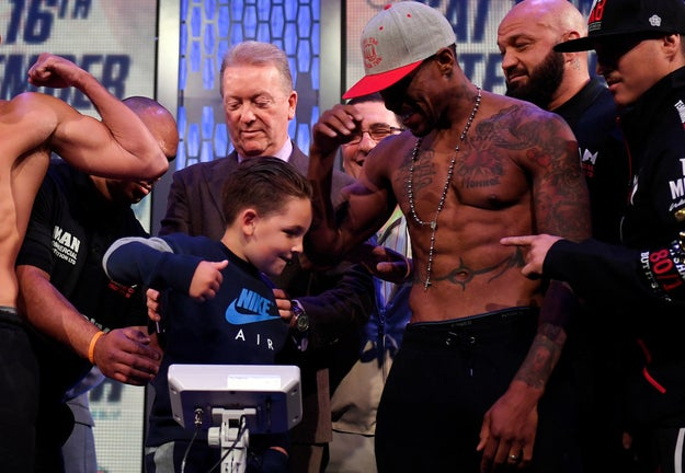 The kid clocked Monroe Jr. squarely in his nuts.