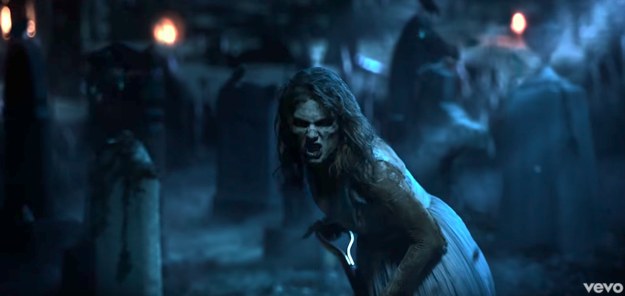 "In Taylor's ""Look What You Made Me Do"" video released last month, we see a ~zombified~ version of the pop star burying ""Old Taylor"" in a cemetery."