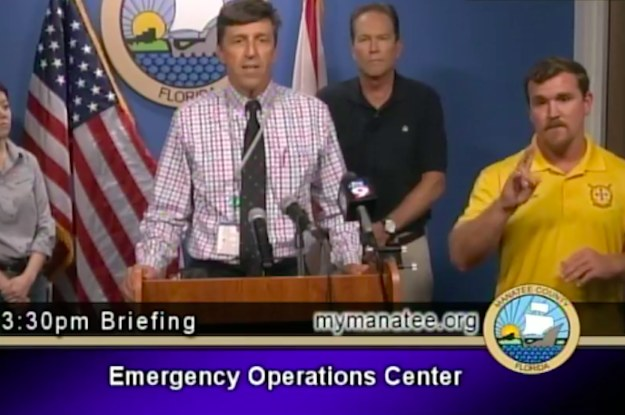 This Florida County Used An Interpreter Who Signed
