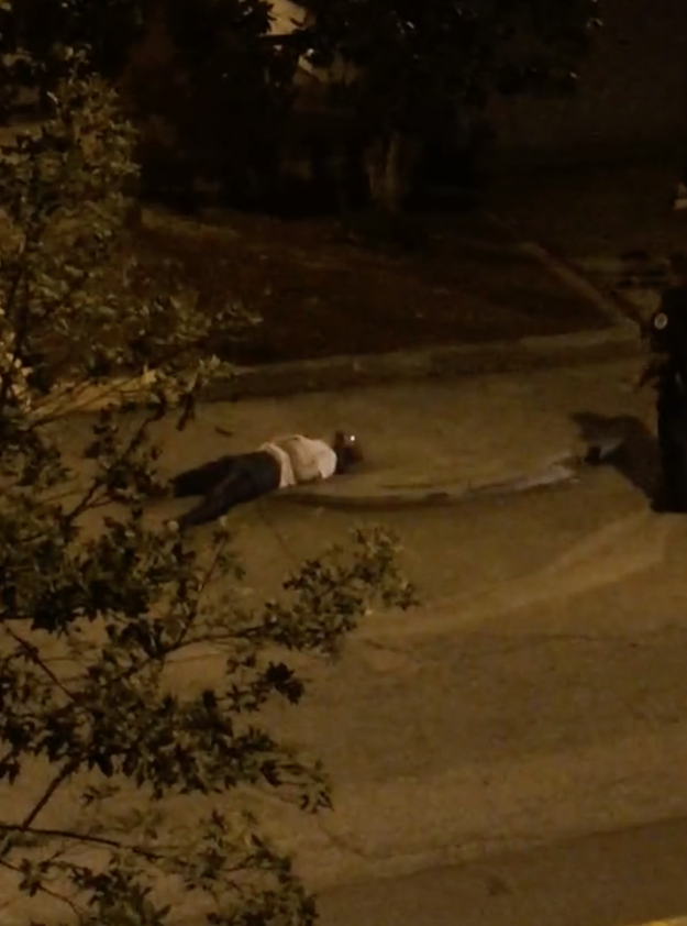 Another video, however, shows Schultz walking slowly toward the officers before he is shot.
