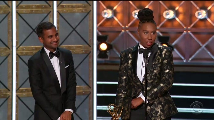 Ansari and Waithe at The Emmys.