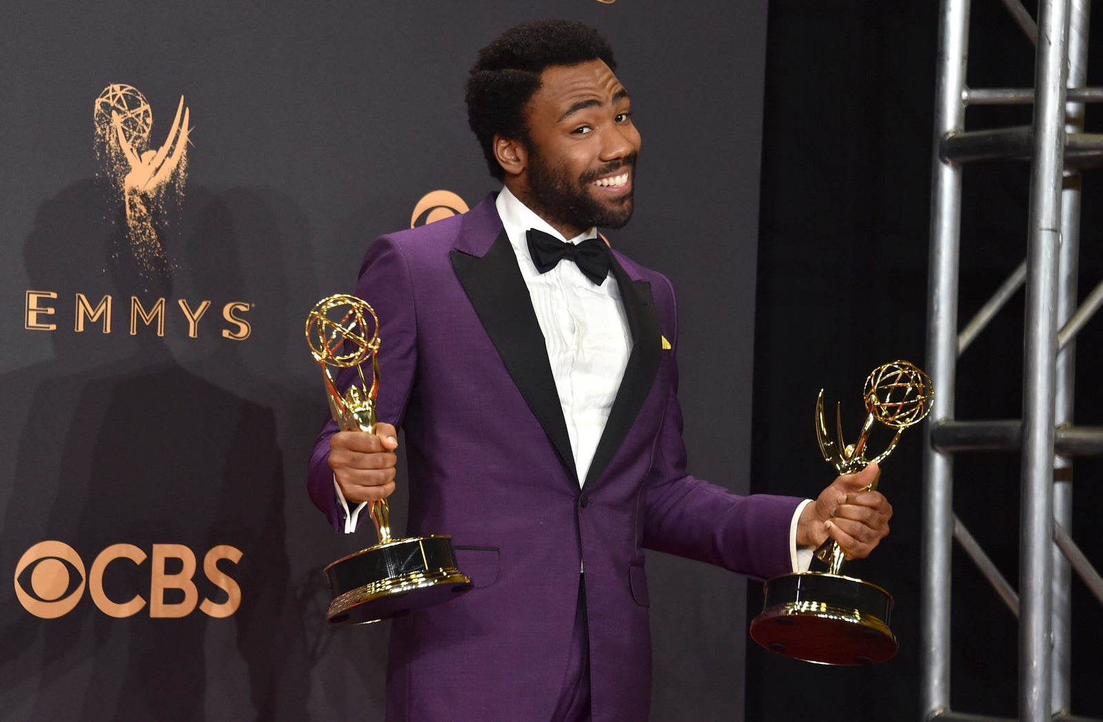 Donald Glover had a big night at the 2017 Emmy Awards on Sunday. He took home two major honors for his show Atlanta: Outstanding Directing for a Comedy Series and Outstanding Lead Actor in a Comedy Series.