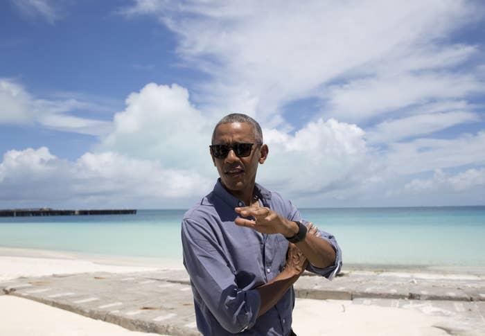 President Barack Obama visits the Papahanaumokuakea Marine National Monument.