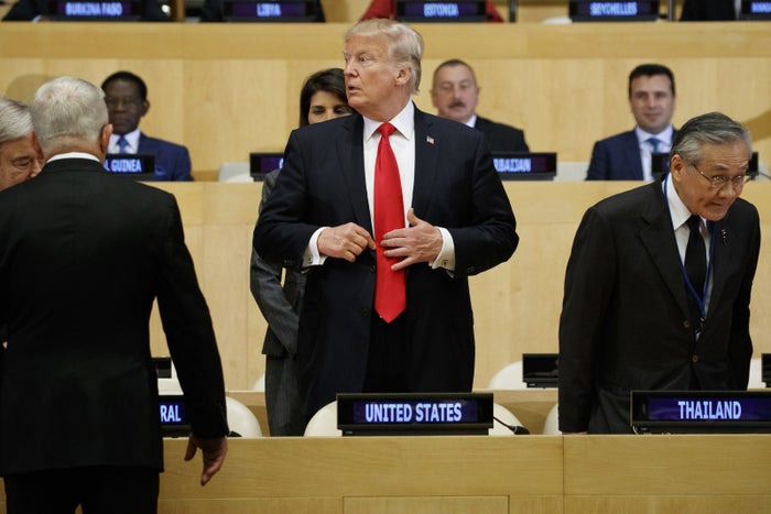 """Yup, that's Donald J. Trump. President of the United States. Chairing a meeting at the UN about """"Reforming the United Nations: Management, Security, and Development."""""""