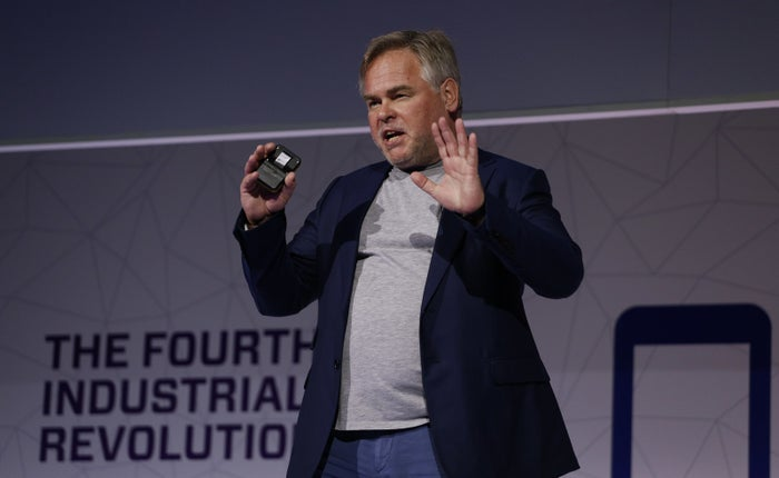 Eugene Kaspersky, chairman and chief executive officer of Kaspersky Lab, at Mobile World Congress in Barcelona in February.