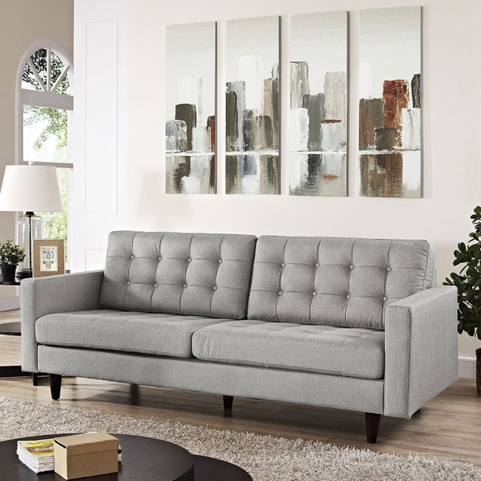 Styles: One of the biggest, if not the biggest, selections of sofas online. You'll find reclining sofas, settees, leather couches, and so much more! Prices: $70+Shipping: Delivery fees and dates vary based on the item. Additional services, like assembly and set up (if required), can also be added, depending on the item. Prime members can often get faster and free delivery. Get this tufted button sofa for $723.89 (available in 14 colors).