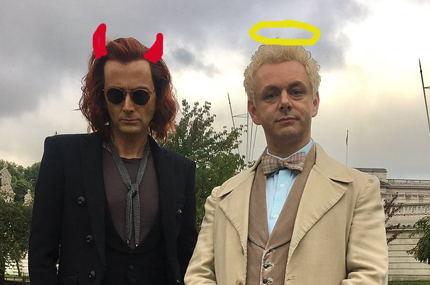 "You Need To See David Tennant And Michael Sheen In Costume For ""Good Omens"""