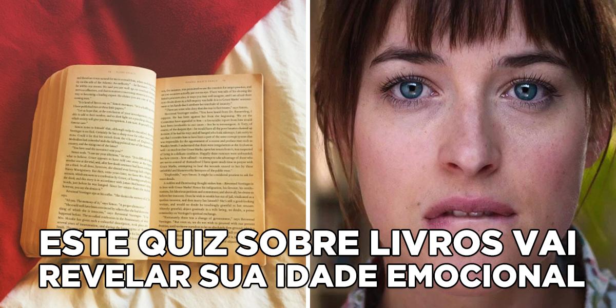Responda a este quiz de literatura e vamos dizer sua idade emocional