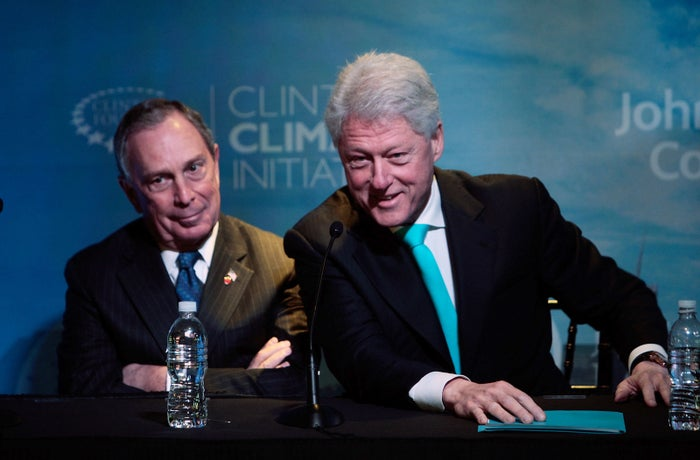 Clinton and Bloomberg share a stage in 2009.