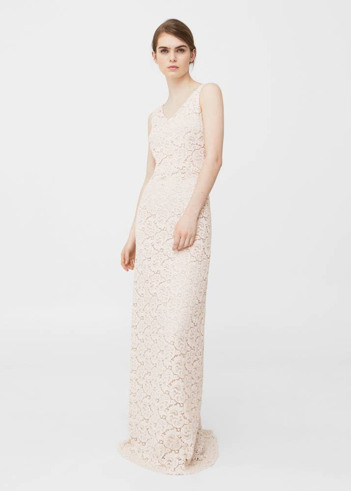 A Classic Lace Column Dress That Looks Way More Expensive Than It Is From Mango GBP99